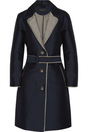 Clayton belted cotton-gabardine coat