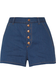 Branson high-rise denim shorts