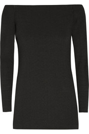 Tibi Off-the-shoulder stretch-crepe top