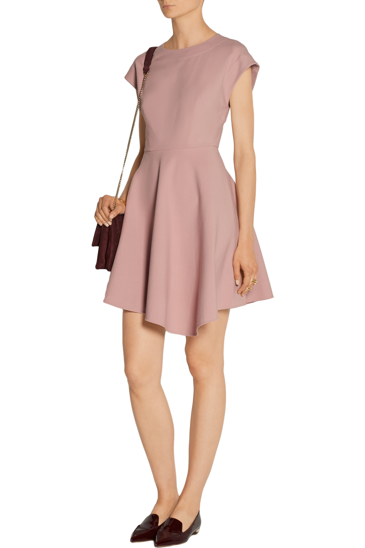 Tibi Anson asymmetric stretch-ponte mini dress