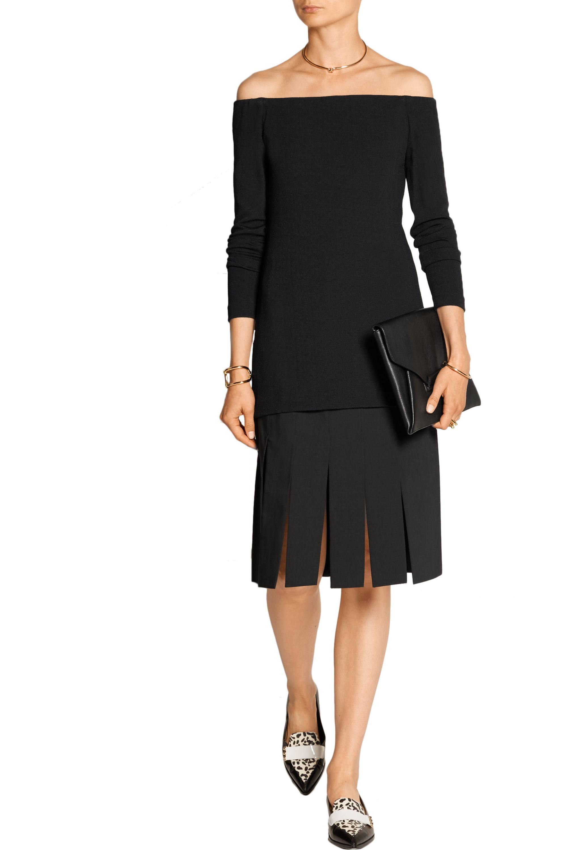Tibi Cuarteto Carwash paneled crepe skirt