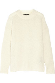 Oversized alpaca-blend boucl� sweater