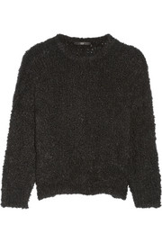Cropped boucl� sweater