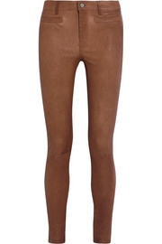 The Ellsworth stretch-leather skinny pants