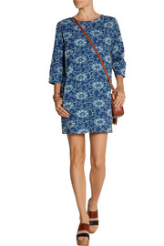 MiH Jeans Island floral-print cotton-chambray mini dress