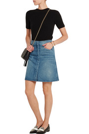 Bodiam A-line stonewashed denim skirt