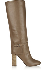 Faye leather knee boots