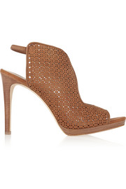 Elinor laser-cut suede sandals