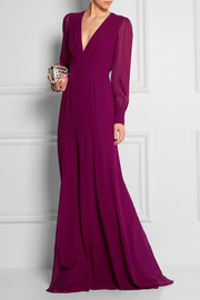 Gucci Silk-georgette gown
