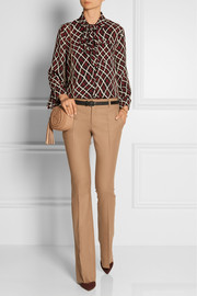 Gucci Wool and cashmere-blend flannel flared pants
