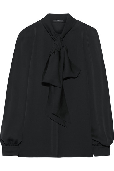 93fe07a920f1ca Gucci | Pussy-bow silk-georgette blouse | NET-A-PORTER.COM