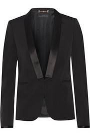 Gucci Silk satin-trimmed wool-blend blazer