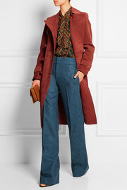 Gucci Double-breasted suede coat