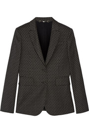Gucci Printed stretch wool-blend blazer