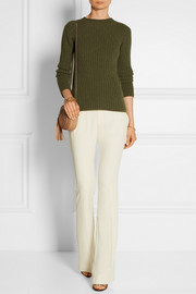Gucci Satin-trimmed crepe flared pants