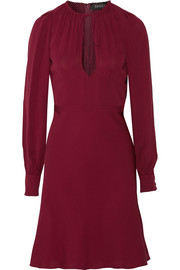 Silk-crepe dress