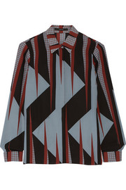 Gucci Printed silk-crepe shirt