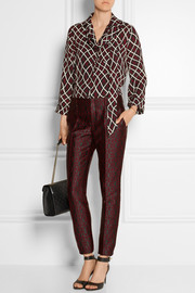 Jacquard tapered pants