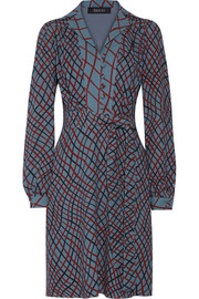 Gucci Printed silk-crepe dress
