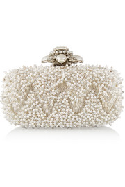 Goa embellished satin box clutch