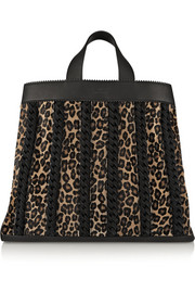 Sugar Daddy suede-trimmed leather and calf hair tote