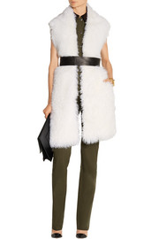 Constable belted shearling gilet