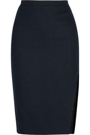 Faun twill pencil skirt