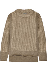 Textured-cashmere sweater