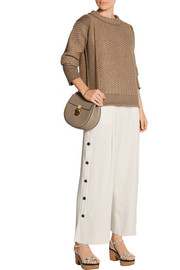 Maiyet Cropped crepe wide-leg pants