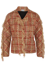 Fringed boucl�-tweed jacket
