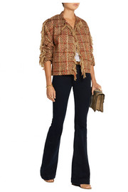 Maiyet Fringed bouclé-tweed jacket