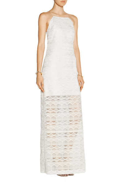 Maiyet geometric lace gown net a porter com for Net a porter usa