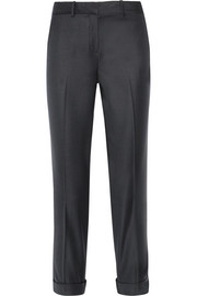Mustadio wool-twill straight-leg pants