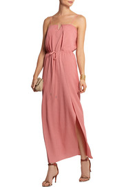 Hammered-silk maxi dress