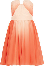 Pleated ombré chiffon dress