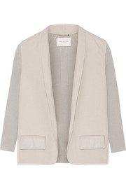 Rib-paneled wool-felt jacket