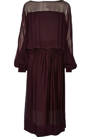 Silk-georgette midi dress