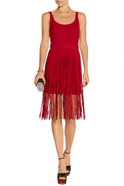 Fringed suede dress