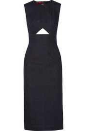 Tamara Mellon Cutout stretch-denim dress
