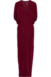 Reni stretch-silk maxi dress