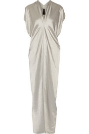 Issa draped twill gown