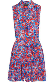Tilly printed silk dress