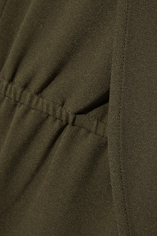 Halston Stretch-twill jumpsuit
