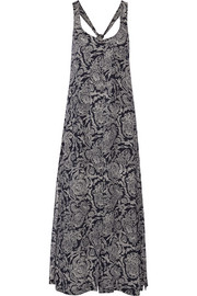 Theory Coruna printed silk-georgette maxi dress