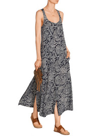 Coruna printed silk-georgette maxi dress