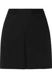 Taminara pleated stretch linen-blend shorts