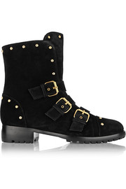 Cobain studded suede ankle boots