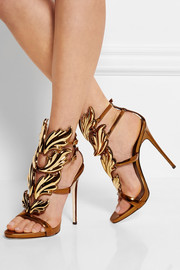 Coline metallic leather sandals