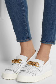 May London embellished leather slip-on sneakers