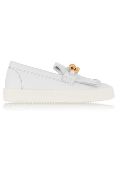 8da12b97be4ef Giuseppe Zanotti | May London embellished leather slip-on sneakers ...